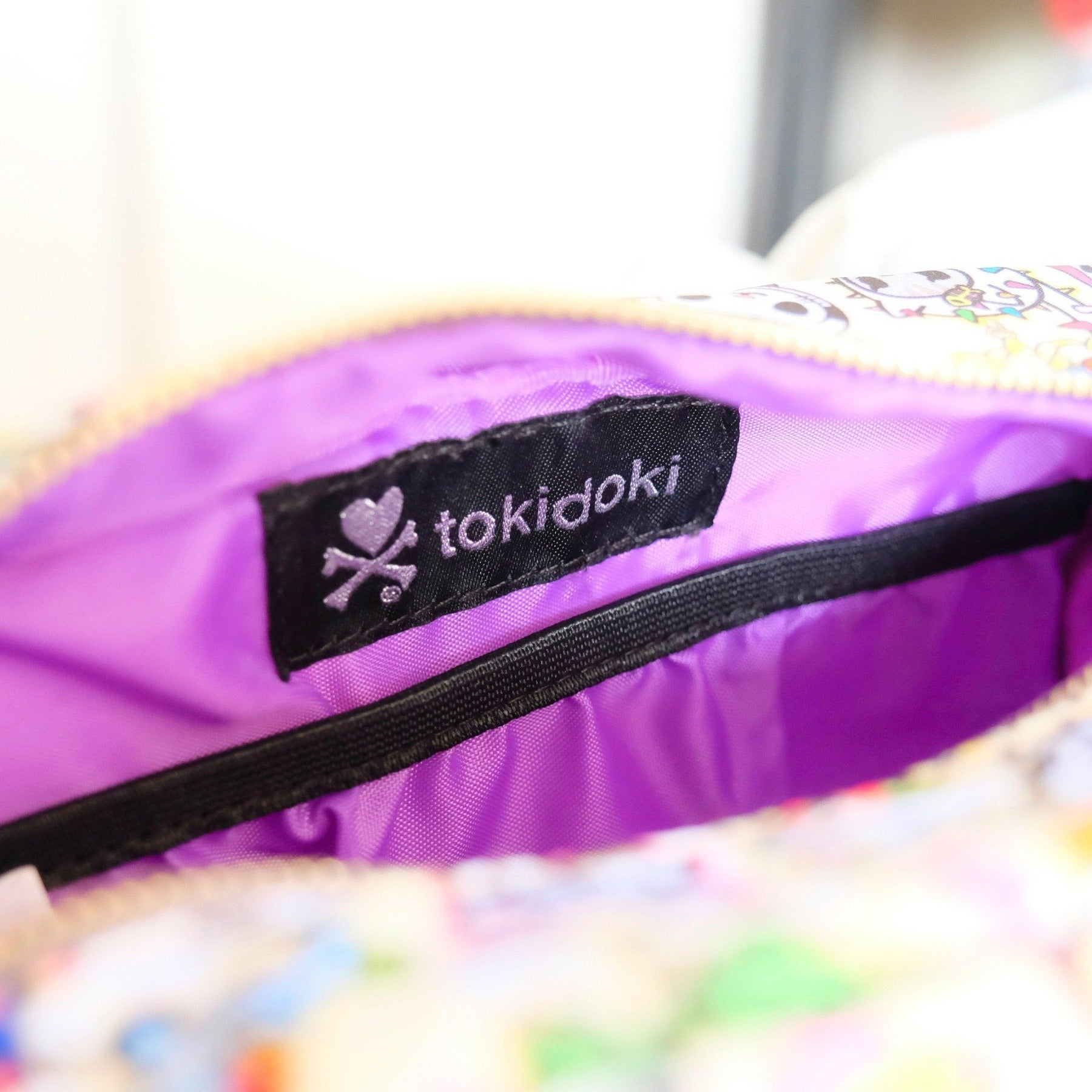 tokidoki kawaii Chained Love Cosmetic/Storage Pouch purple interior