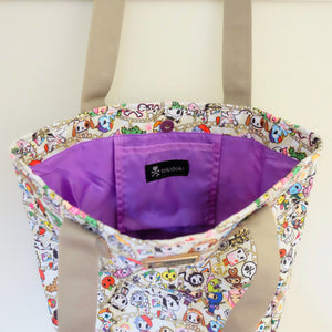 tokidoki chained love collection shopper tote interior