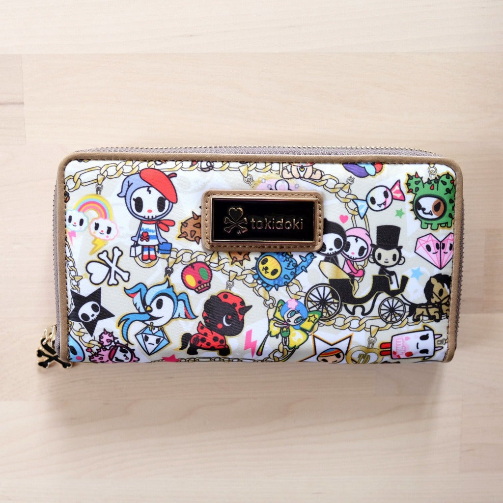 tokidoki kawaii Chained Love Long Zip Around Wallet front