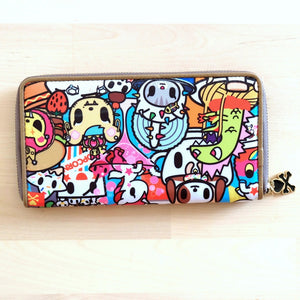 tokidoki food collection long zip around wallet