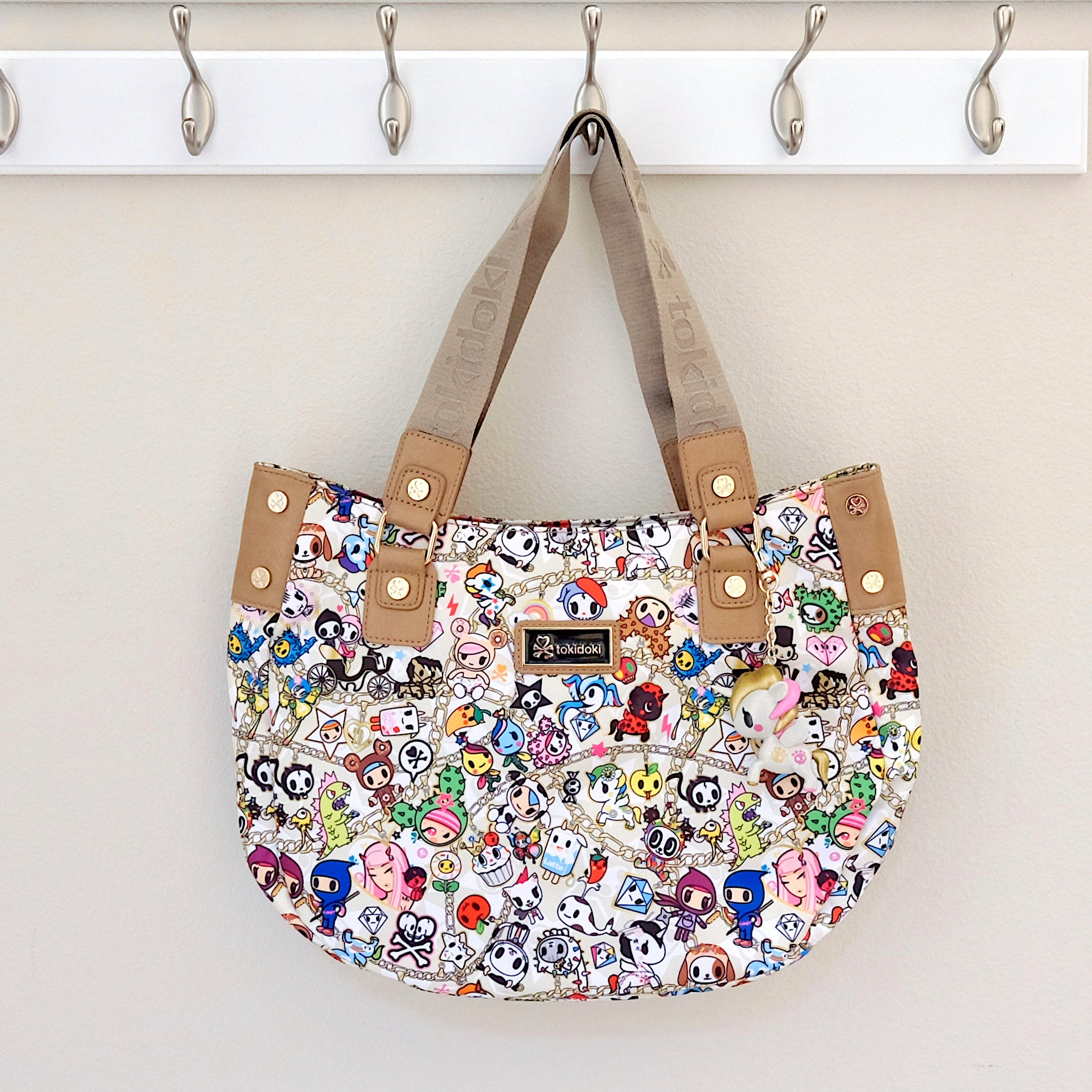 tokidoki kawaii Chained Love Hobo Bag front
