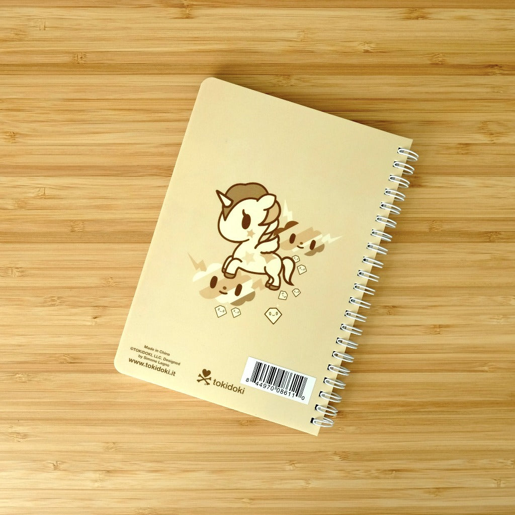 Kawaii Stationery Tokidoki Unicorno Plastic Cover Spiral Notebook back cover