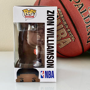 Funko POP! NBA New Orleans Pelicans Zion Williamson 62 (box side)