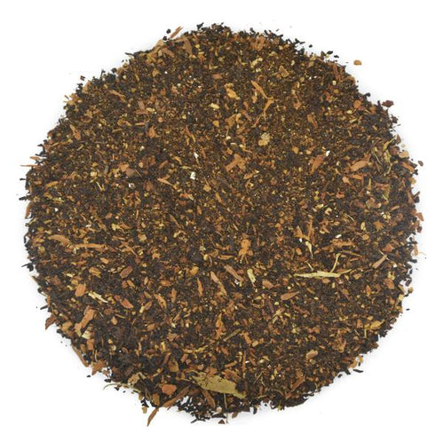 A mix of Nilgiri black tea and eclectic spices make for a delicious chai!