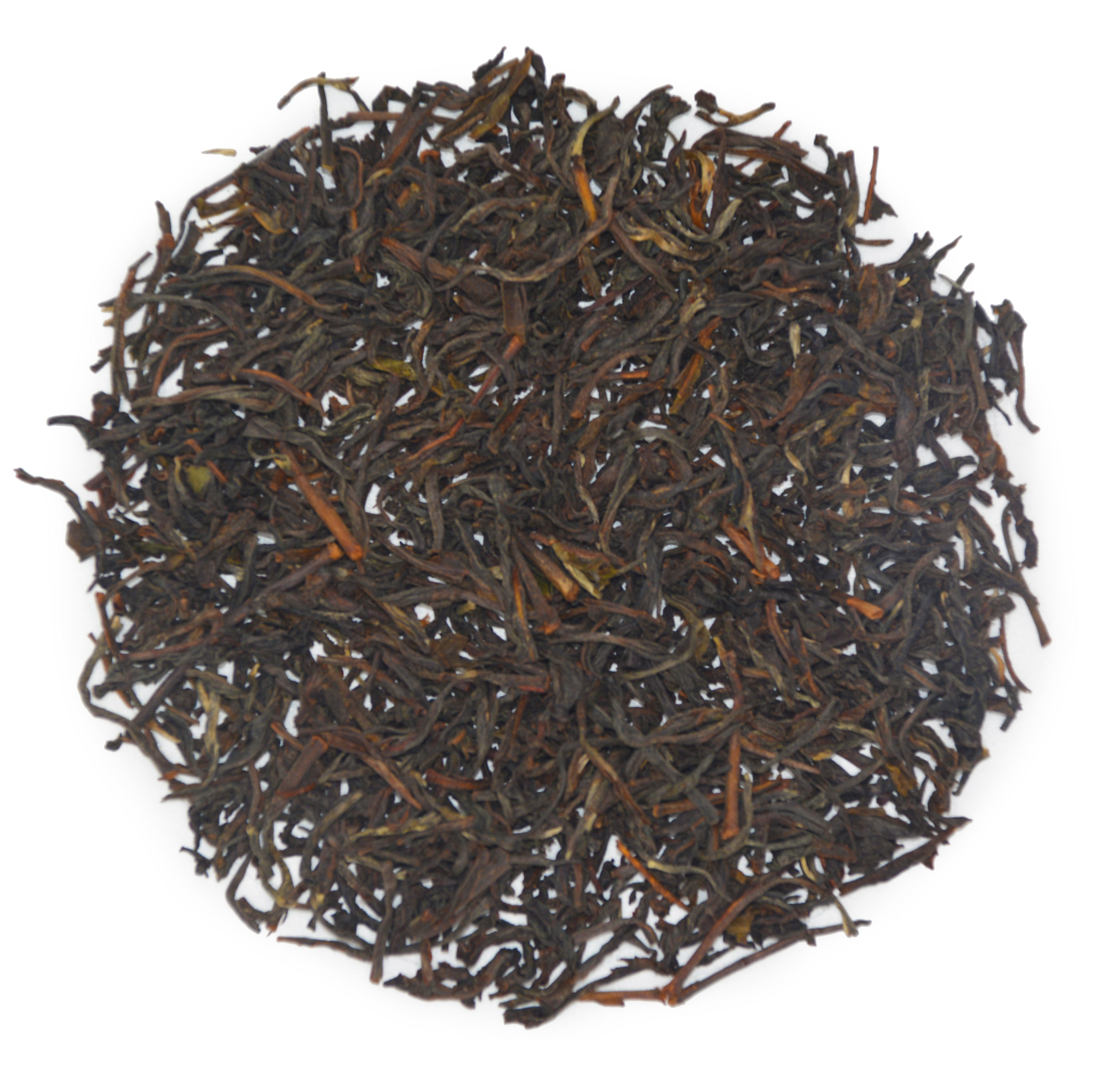 Glendale Estate's wiry, tightly rolled, Winter Flush black tea.