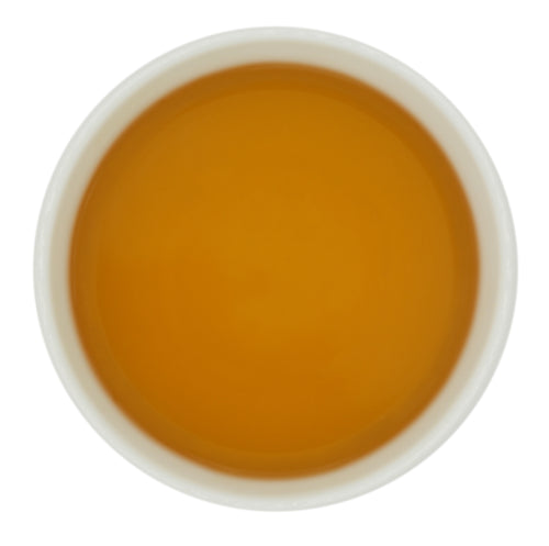 Golden liquor from Goomtee Estate's Spring Darjeeling tea.