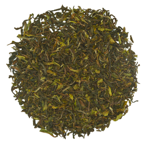 Spring produced tea leaves from Darjeeling's iconic Goomtee Estate.