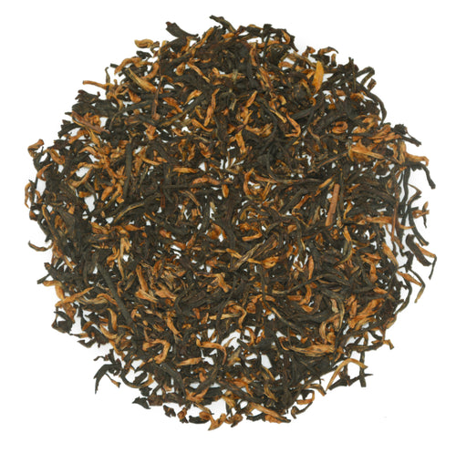 "Halmari Estate's Assam ""tippy"" tea with many golden tips."