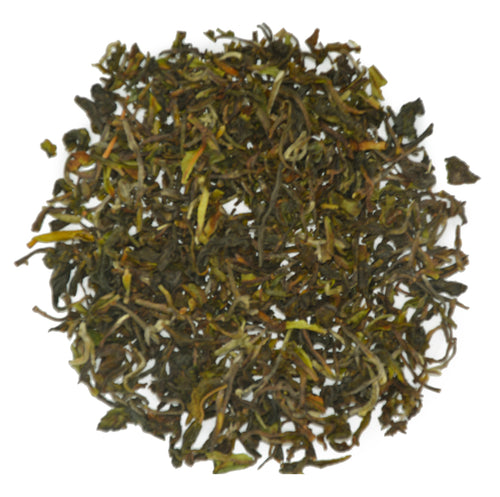 Quintessential Spring Darjeeling leaves from Puttabong Estate.