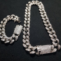 IceClique Cuban Chain & Cuban Bracelet Set - 80% OFF - Today Only - IceClique Jewelry