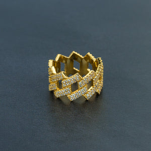 Iced Prong Ring
