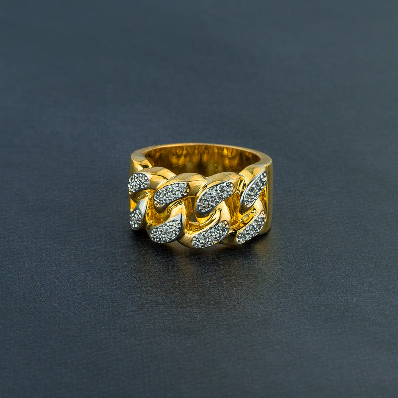 Cuban Iced Gold Ring