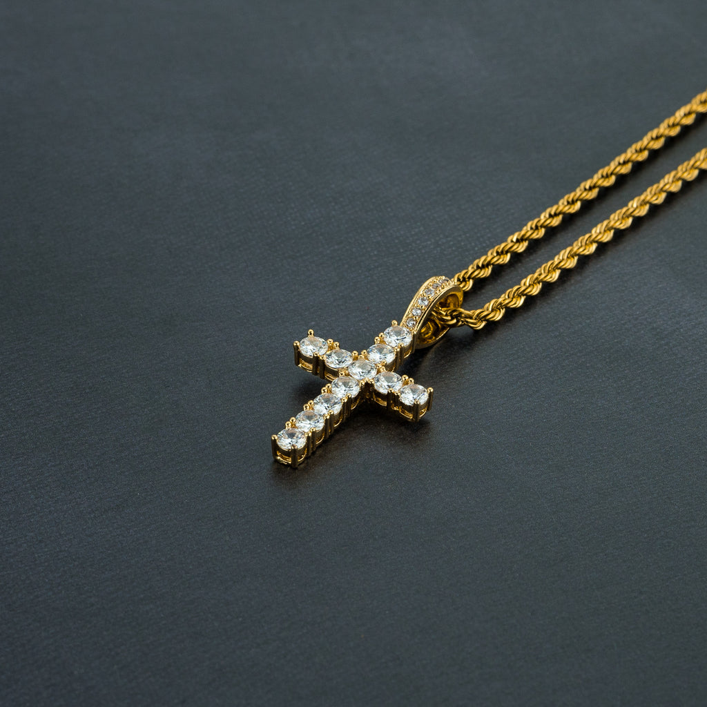 Holy Cross Iced Pendant