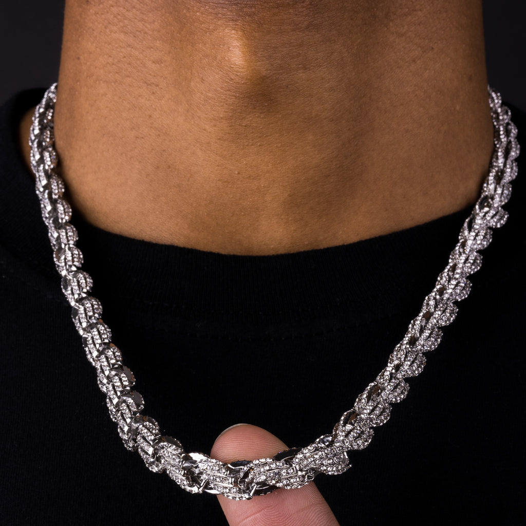 9mm Iced Rope Chain