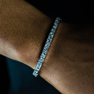 5mm Square Cut Tennis Bracelet