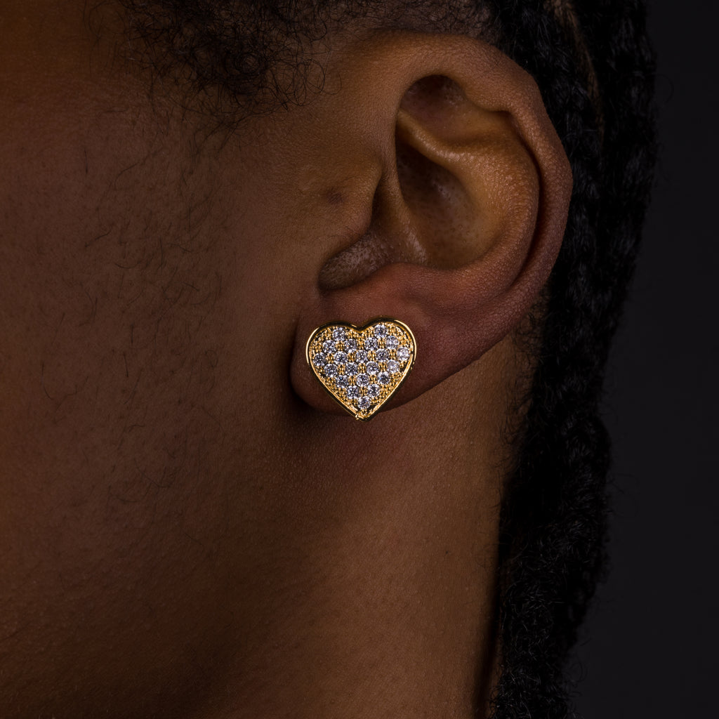14mm Heart Shaped Earrings