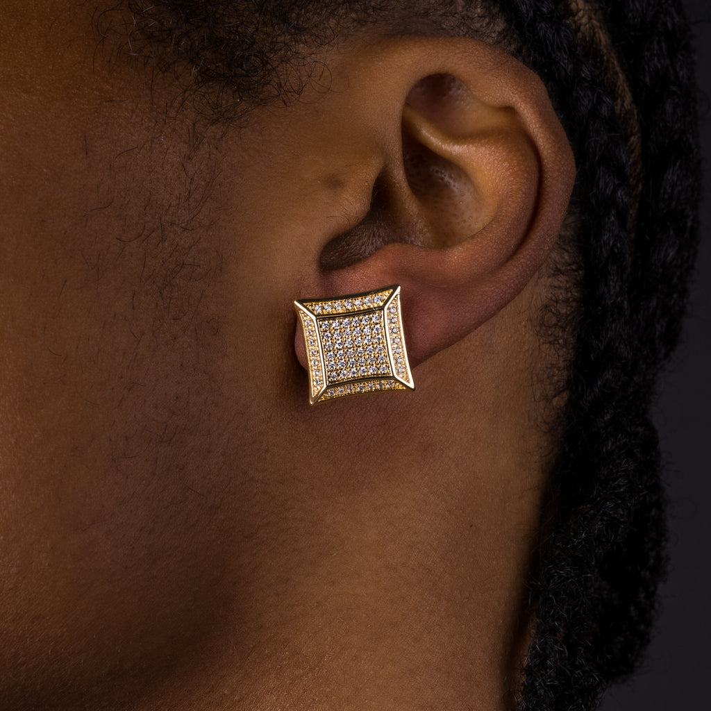 15mm Iced Square Earrings