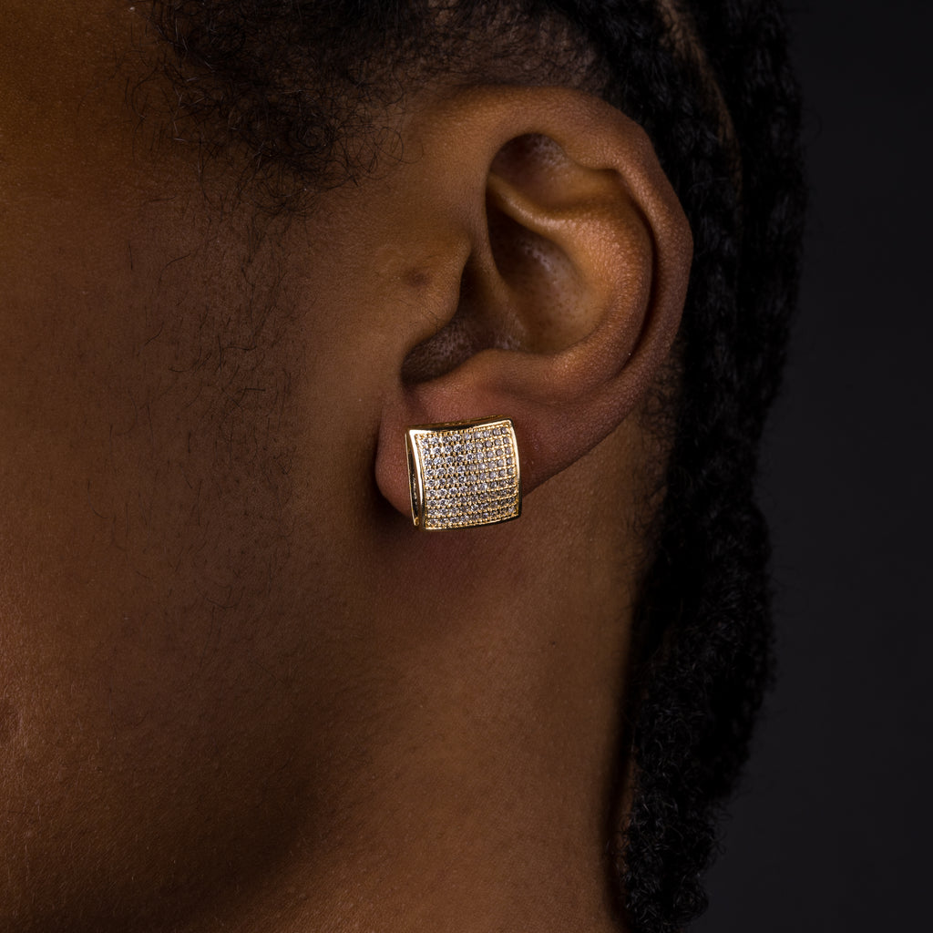 12mm Rounded Square Earrings