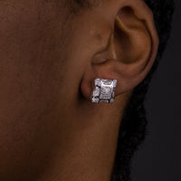 11mm Layered Square Earrings