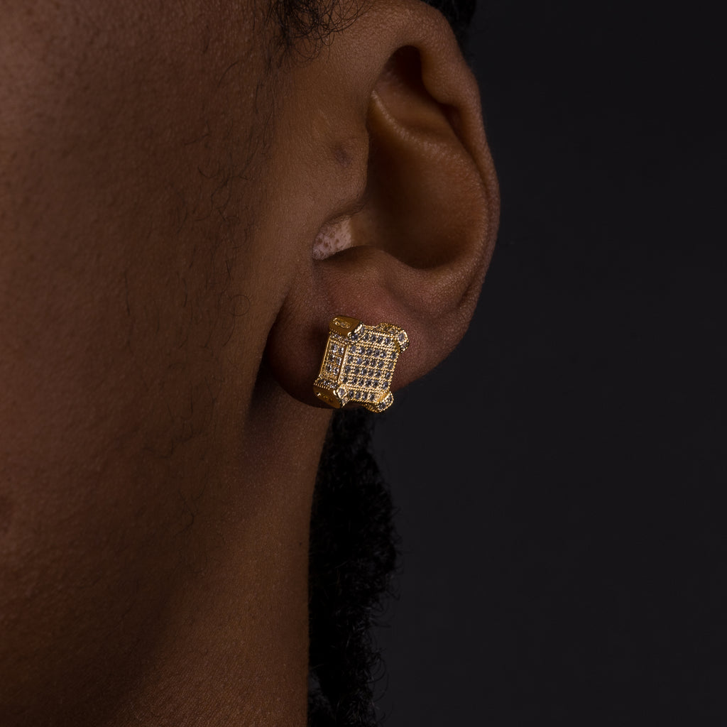 10mm Square Earrings