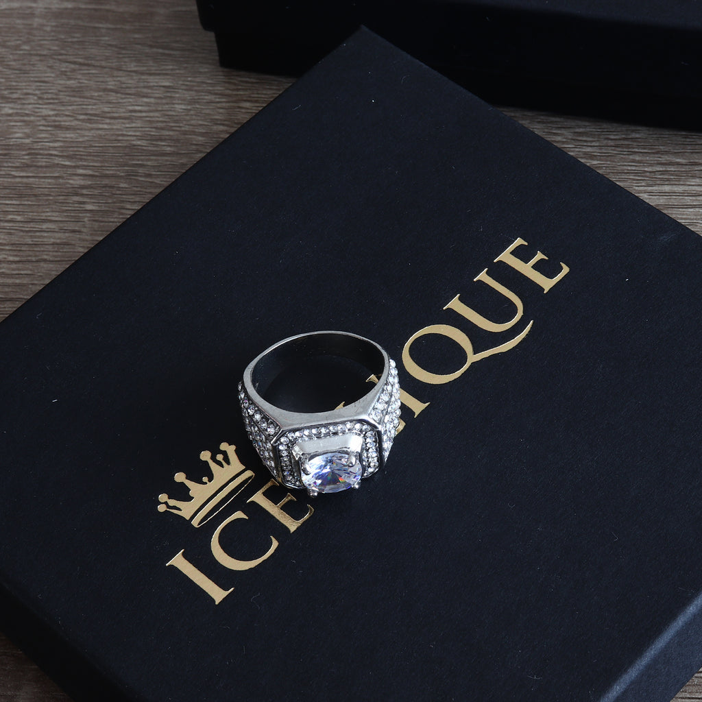 IceClique White Gold King Sized Diamond Ring