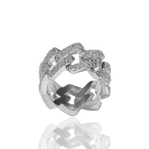 2 Row Prong Set Ring - IceClique Jewelry