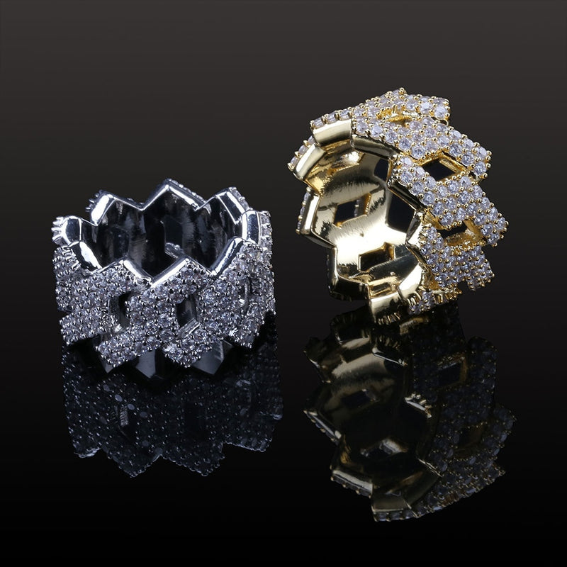 Iced Prong Set Ring - IceClique Jewelry