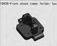 RIVERHOBBY Fr Shock Tower Holder suit Bullett Buggy - RH-10436