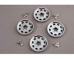 TRAXXAS WHEEL COVERS - CHROME - 4276