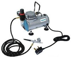 HSENG Air Compressor with Airbrush & Hose - HS-AS18K-2