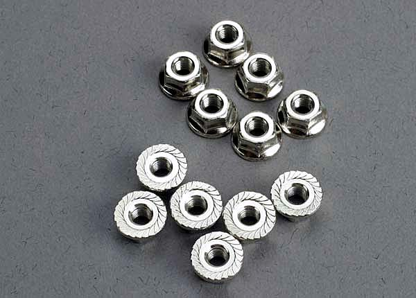 TRAXXAS FLANGED NUTS 3MM - 2744