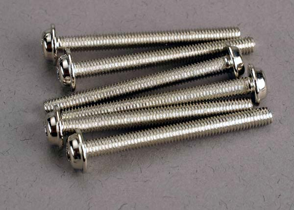 TRAXXAS SCREWS 3 X 30 MM WASHERHEAD - 3196