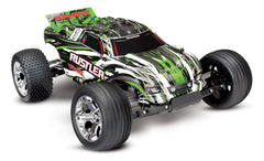 TRAXXAS RUSTLER 2WD STADIUM TRUCK Green with TQ 2.4GHz Radio, Brushed Motor & ESC, Nimh Battery & 4A DC Charger - 37054-1GRN
