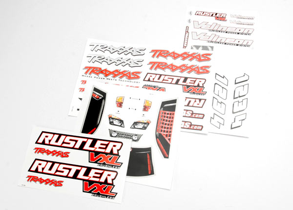 TRAXXAS DECAL SHEET RUSTLER - 3713