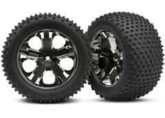 TRAXXAS TYRES & WHEELS RUSTLER REAR - 3770A