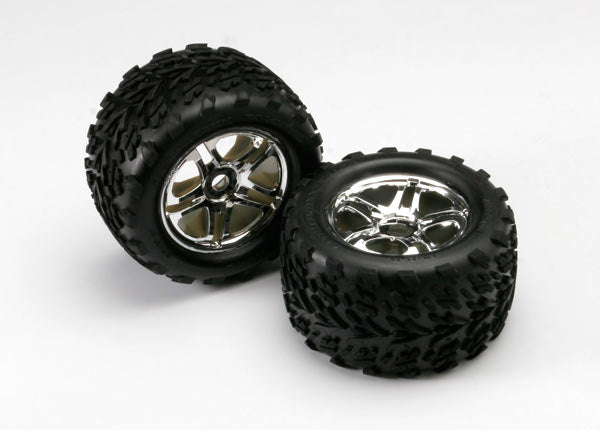 TRAXXAS TYRES AND WHEELS ASSY GLUED - 5174R