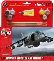 AIRFIX HAWKER HARRIER GR.1 1:72 Starter Set - 55205
