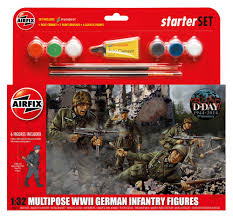AIRFIX German Infantry Multi Pose 1:32 Starter Set - 55210