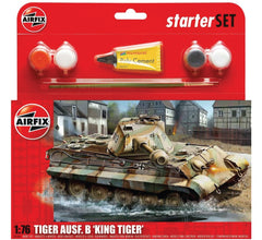 AIRFIX King Tiger Tank 1:76 Starter Set - 55303