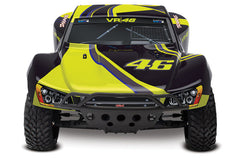 TRAXXAS VALENTINO ROSSI SLASH 2WD SC TRUCK with Brushed Motor & ESC, 2.4Ghz Radio System, Battery & 4A DC Charger - 58034-1VR