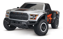 TRAXXAS FORD F-150 RAPTOR 2WD SC RACING TRUCK with TQ 2.4Ghz Radio Gear, Titan 12T 550 Brushed Motor Driveline, 3A Nimh Battery & 4A DC Fast Charger- 58094-1
