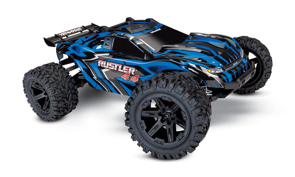 TRAXXAS RUSTLER 4WD Brushed with TQ 2.4Ghz Radio 3A Nimh Battery and 4A DC Fast Charger - 67064-1