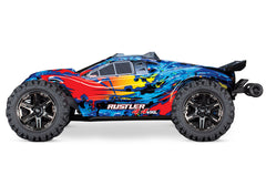 TRAXXAS RUSTLER 4WD VXL with TQi 2.4Ghz Radio and TSM - 67076-4RED