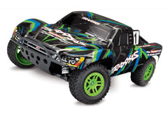 TRAXXAS SLASH 4X4 BRUSHED SC TRUCK Green with TQ 2.4Ghz Radio Gear, Battery and 4A DC Fast Charger - 68054-1GRN