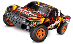 TRAXXAS SLASH 4X4 BRUSHED SC TRUCK Orange with TQ 2.4Ghz Radio Gear, Battery and 4A DC Fast Charger ORANGE - 68054-1ORNG