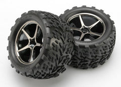 TRAXXAS TYRES AND WHEELS ASSY GLUED - 7174A