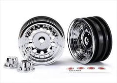 TRAXXAS 1.9IN CHROME WHEELS WITH CENTRE CAPS 2PCS - 8175