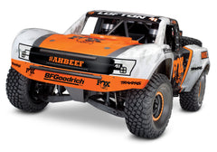 TRAXXAS UNLIMITED DESERT RACER 4WD RACE TRUCK Fox with TQi 2.4Ghz Radio, Light Kit and TSM - 85076-4FOX