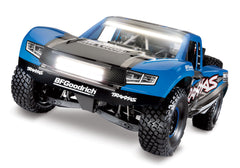 TRAXXAS UNLIMITED DESERT RACER 4WD RACE TRUCK Blue with TQi 2.4Ghz Radio, Light Kit and TSM - 85086-4TRX