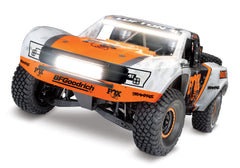 TRAXXAS UNLIMITED DESERT RACER 4WD RACE TRUCK Fox with TQi 2.4Ghz Radio, Light Kit and TSM - 85086-4FOX